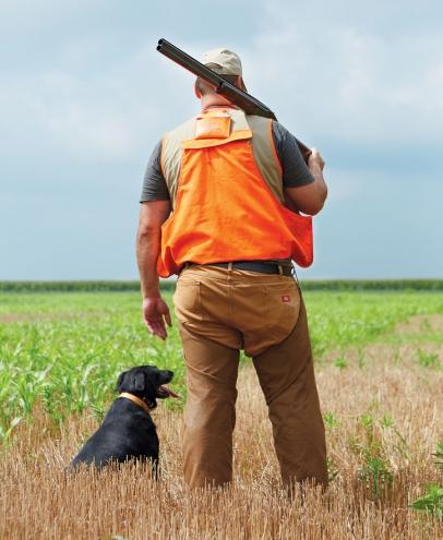 Local hunter Steve Berk and his dog Lulu