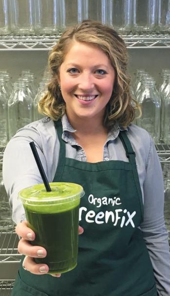 Katie McKivergin, co-owner of Organic GreenFix