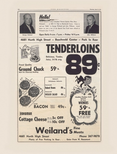From the old days at Weiland's Market.
