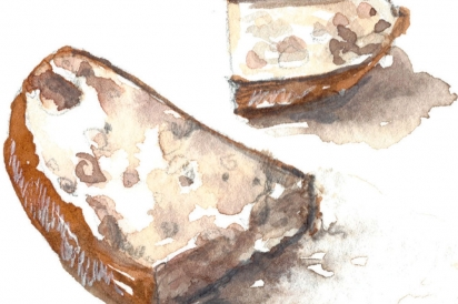 illustration of slice of hearty white bread