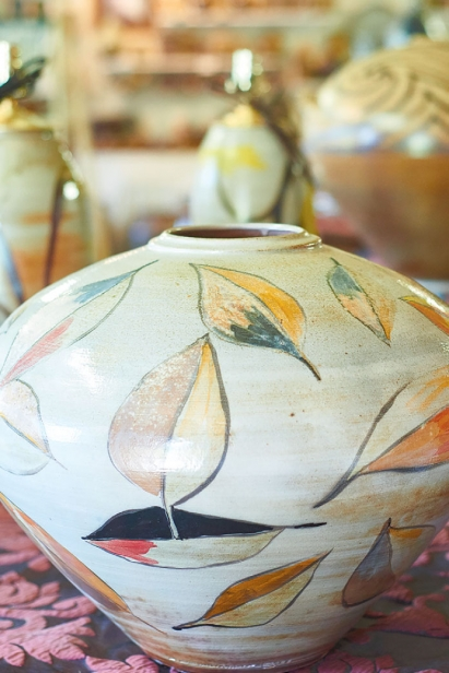Pottery at Naysan McIlhargey's Miami Valley Pottery in Yellow Springs.