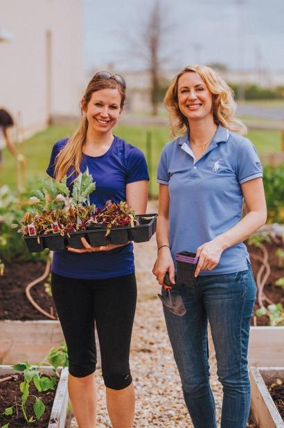Jillian Koch (left) and Megan Mellquist (right),