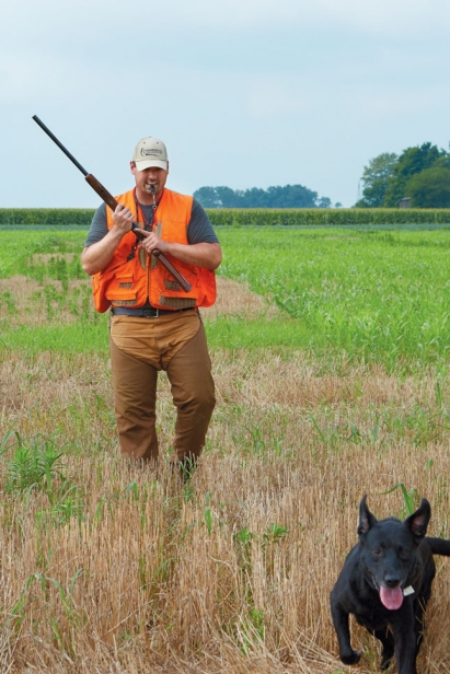 steve berk on hunt with dog