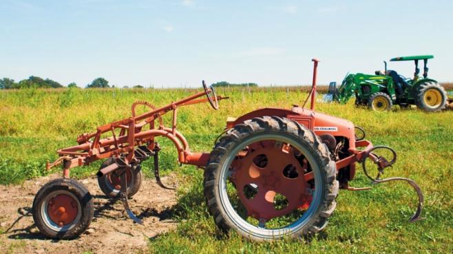 farmer machinery on a farm