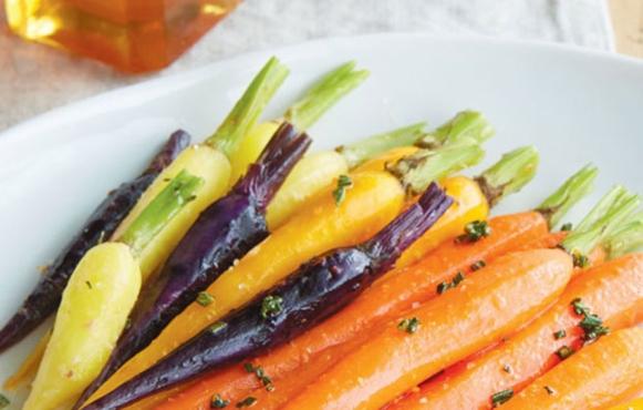 Carrots in an Orange Honey Rosemary Glaze