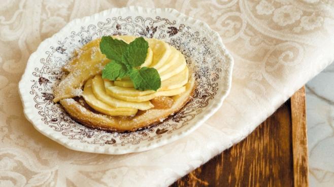 warm apple tart with rosemary recipe